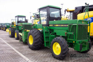 jd 5830 4wd forage chopper with 6rn 6row chainhead sold to canada