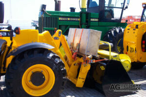 jcb 531 70 and john deere hay head pickup ready for shipping to canada